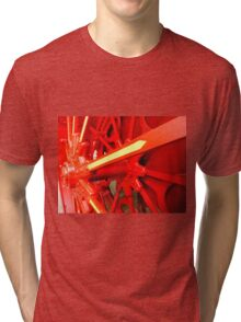 Red Gears On The Avery Tri-blend T-Shirt