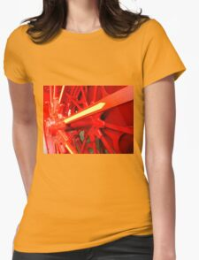 Red Gears On The Avery Womens Fitted T-Shirt