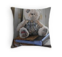 Clever ted Throw Pillow