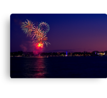 Geelong New Year's Fireworks 2011 Canvas Print