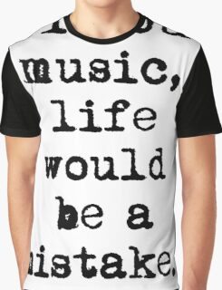 Friedrich Nietzsche Music Graphic T-Shirt