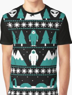 Paranormal Christmas Sweater Graphic T-Shirt