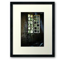 Grungy urbex window #2 Framed Print