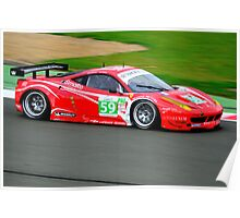 Luxury Racing Ferrari No 59 Poster