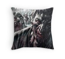 Zombie Horde Throw Pillow