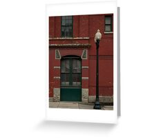 Red and Green symmetry Greeting Card