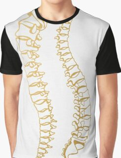 Gold Vertebrae Graphic T-Shirt
