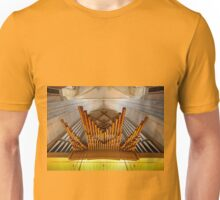 Organ pipes in Ulm Munster, Germany Unisex T-Shirt