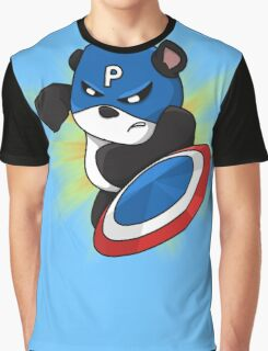 Captain Panda - The First Panda Avenger Graphic T-Shirt