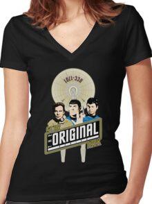 Star Trek TOS Trio Women's Fitted V-Neck T-Shirt