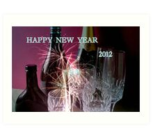 HAPPY NEW YEAR 2012 Art Print