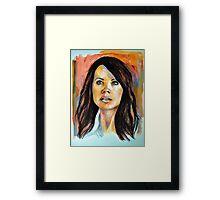 Erica Durance Framed Print