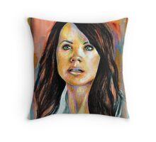 Erica Durance Throw Pillow