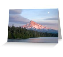 As The SunSets and the Moon Rises Greeting Card