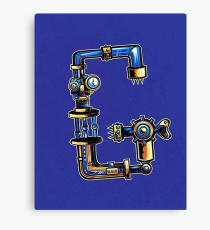 G is for Gear Head Canvas Print