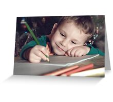 letter to Santa Claus Greeting Card