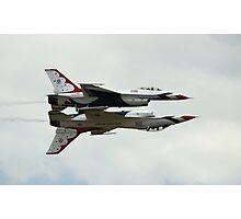 USAF Thunderbirds F16 Fighting Falcons Photographic Print