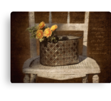 Mums and Chair Canvas Print