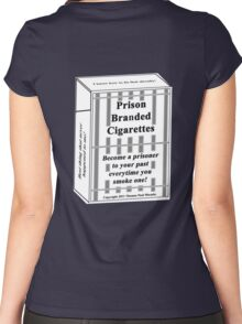 Prison Branded Cigarettes Women's Fitted Scoop T-Shirt