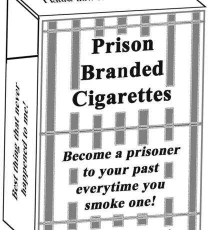 Prison Branded Cigarettes Sticker