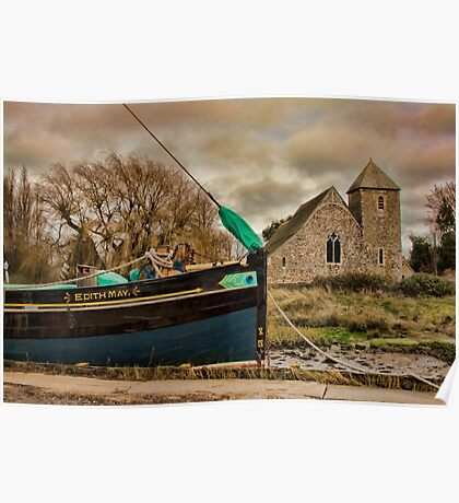 St Margaret's Church and the Edith May, Lower Halstow Poster