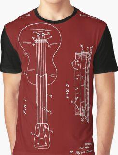 Les Paul Guitar Patent-(Red) Graphic T-Shirt