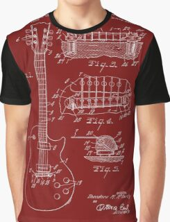 Ted McCarty Guitar Patent-Red Graphic T-Shirt