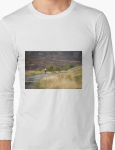The lonely cyclist Long Sleeve T-Shirt