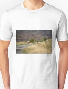 The lonely cyclist Unisex T-Shirt