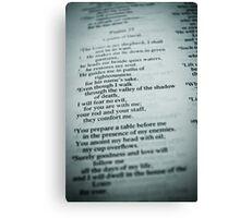 Psalm 23 ~ St Gerard's  Canvas Print