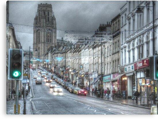 Bristol University and Park Street, Bristol. by Clive Lewis-Hopkins.