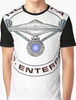 USS Enterprise Logo - Star Trek - NCC-1701-A (Movie Colour) Graphic T-Shirt