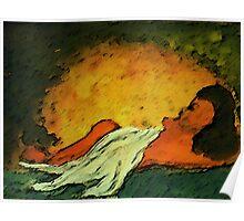 Sleeping, watercolor Poster
