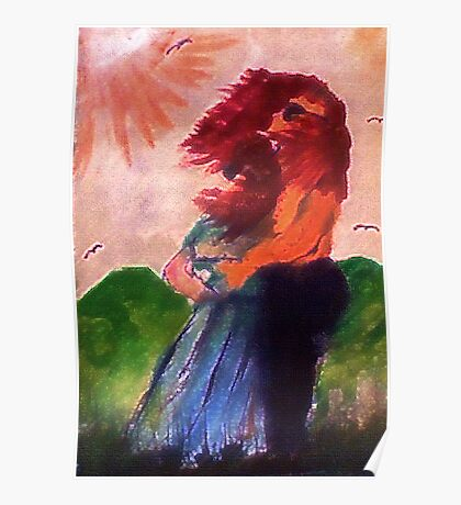 Windswept, watercolor Poster