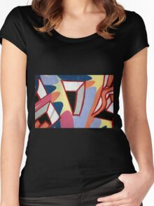 Abstract  Women's Fitted Scoop T-Shirt