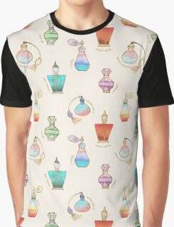 Pretty Perfumes - a pattern of vintage fragrance bottles Graphic T-Shirt