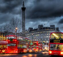 London red buses by Jasna