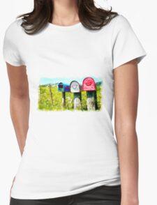 Mail boxes near New Plymouth, Taranaki Womens Fitted T-Shirt