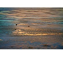 Colorful Frozen Lake At Sunset Photographic Print