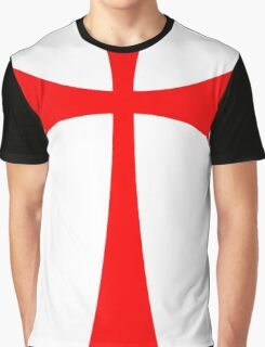 Long Cross - Knights Templar - Holy Grail - The Crusades Graphic T-Shirt