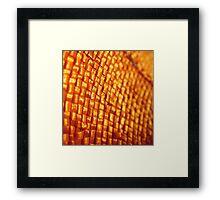 Orange Weave Framed Print