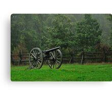 Rainy Day Battlefield Canon Canvas Print