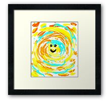 Trippy Smile Framed Print