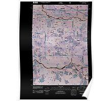 USGS Topo Map Washington State WA Greenwater 20110428 TM Inverted Poster