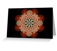 Taupe, Black and Red Holiday Cheer Greeting Card