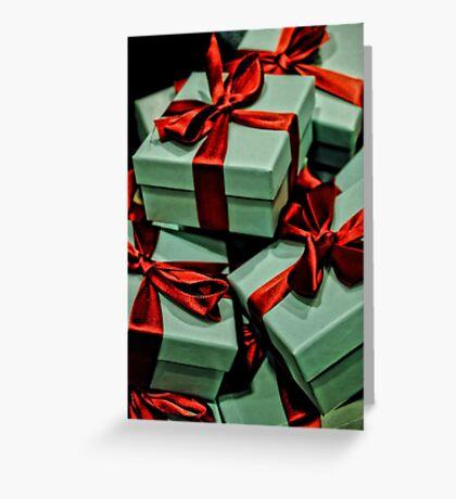 Tiffany's Boxes Greeting Card