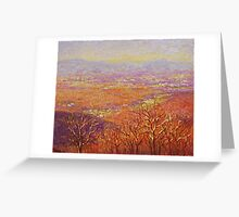 Mountains in the setting sun Greeting Card