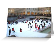 Ice Skating at Rockefeller Greeting Card