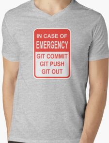 Git Out Mens V-Neck T-Shirt
