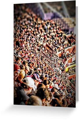 Football Fans by Robin Lee